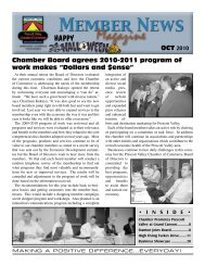 OCT Chamber Board agrees 2010-2011 program of work makes ...