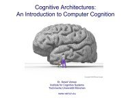 Artificial Cognitive Systems: An Introducation - David Vernon