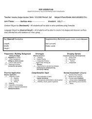 Lesson Plan: Surface Area (Judge-Harden) - ACT-ESL