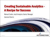 Creating Sustainable Analytics - A Recipe for Success - Acl.com