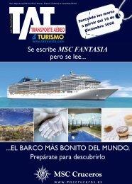 Se escribe MSC FANTASIA pero se lee... ...EL BARCO ... - TAT Revista