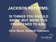 Oliver Moore - Guildhall Chambers