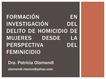 modulo feminicidio - Escuela de Capacitación Fiscal