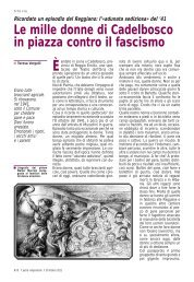 l'«adunata sediziosa» del '41. Le mille donne di Cadelbosco in - Anpi