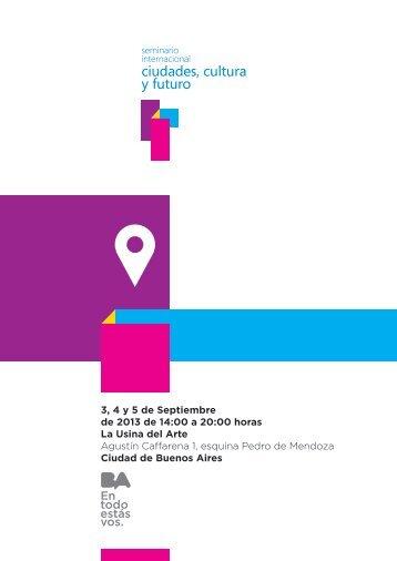 ciudades, cultura y futuro - cceba