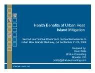Health Benefits of Urban Heat Island Mitigation - International ...