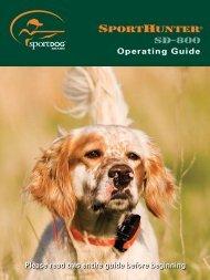 Sportdog SD-800 Manual