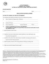 Special Permit Application - City of Peabody