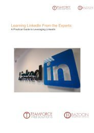 Learning LinkedIn From the Experts: - TeamForce Online Marketing ...