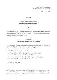 Sechste Verordnung zur Änderung chemikalienrechtlicher ...