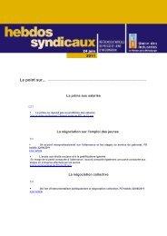 les Hebdos syndicaux du 24 juin 2011