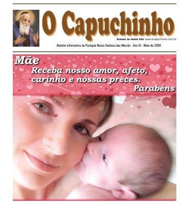 """Jornal """"O Capuchinho"""" - Maio de 2008 - Paróquia Nossa Senhora ..."""