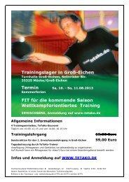Trainingslager in Groß-Eichen FIT für die kommende Saison ...