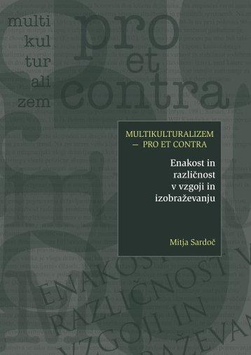 Multikulturalizem: PRO et CONTRA - Pedagoški inštitut