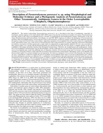 Description of Paratetrahymena parawassi n. sp. using ...