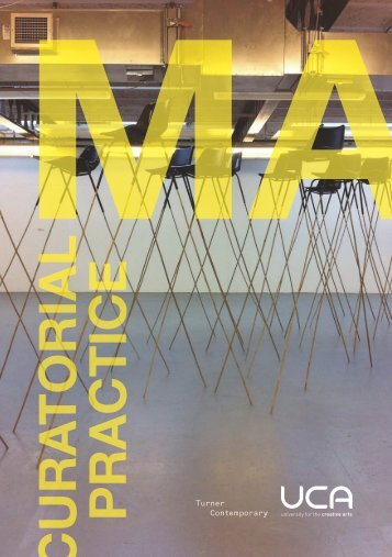 MA Curatorial Practice booklet - University for the Creative Arts
