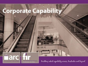Corporate Capability.. - First Impressions Resources