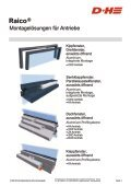 Konsolenprogramm 2012 | Raico - D+H Mechatronic - Seite 3