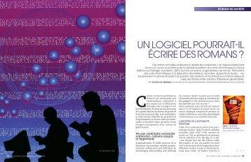 UN LOGiCiEL pOURRaiT-iL ÉCRiRE DEs ROmaNs ? - Olivier Las ...
