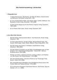 Otto Pankok-Ausstellung: Literaturliste