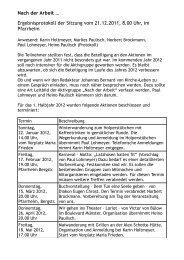 Nach der Arbeit … Ergebnisprotokoll der Sitzung vom 21.12.2011 ...