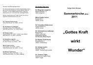 7 Kirchen Sommerkirche plus