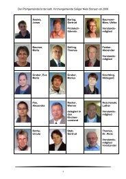 Gemeindemitglieder in den Pfarrgemeinderat