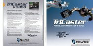 TriCaster XD300 - TELTEC Broadcast Media Store