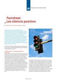 Factsheet Lex silencio positivo - Europa decentraal