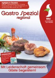 Gastro Spezial Regional - Mai 2013 - Recker Feinkost GmbH