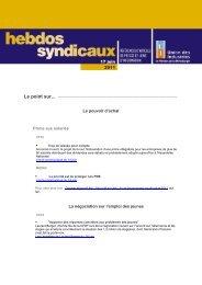 les Hebdos syndicaux du 17 juin 2011