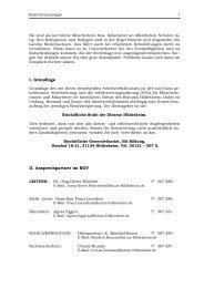I. Grundlage II. Ansprechpartner im BGV
