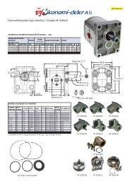 Hydraulikkpumpe type tannhjul. Gruppe II Galtech