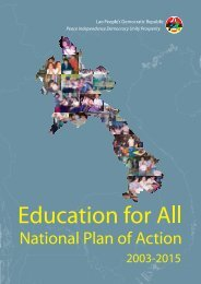 Education for All National Plan of Action - Unesco