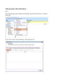Opsætning af e-mail i Microsoft Outlook 2007 - DLG Tele
