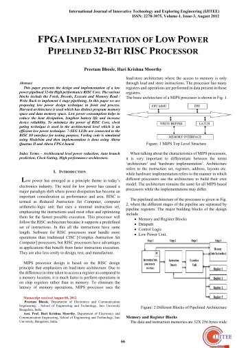 implementation of risc processor in fpga using verilog essay Offloading haskell functions onto an fpga arm advanced risc machine, a processor architecture systemverilog extension of verilog hdl.