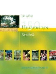 Festschrift 150 Jahre Heilbrunn - Stephanus-Stiftung