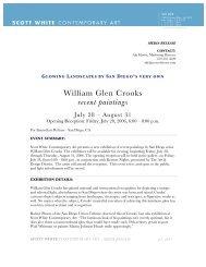 William Glen Crooks recent paintings - Scott White Contemporary Art
