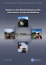 Report on the World Summit on the Information Society Stocktaking