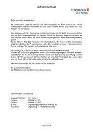 Aufnahmeanfrage - Stephanus-Stiftung