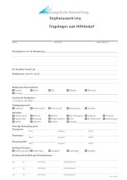 Fragebogen zum Hilfebedarf - Stephanuswerk Isny