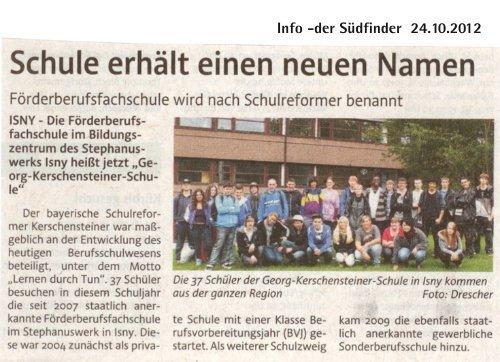 Berufsfachschule hat neuen Namen - Stephanuswerk Isny