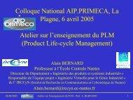 Diapositives de la présentation - CAO PDM PLM - Formations ...