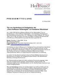 Clara Hoffbauer Gedenkgala - Stephanus-Stiftung