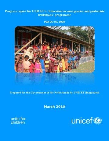 Bangladesh Donor Report 2009