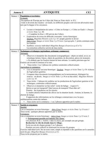 Annexes de la programmation d'histoire - Amiens 4