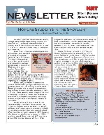 NEWSLETTER - Albert Dorman Honors College
