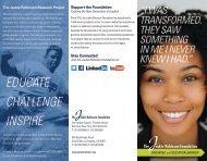 JRF Brochure - The Jackie Robinson Foundation