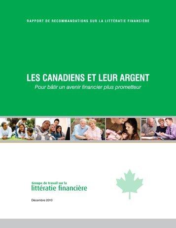 Les Canadiens et leur argent - Base de données en alphabétisation ...