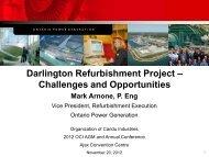 Darlington Nuclear - Organization of CANDU Industries